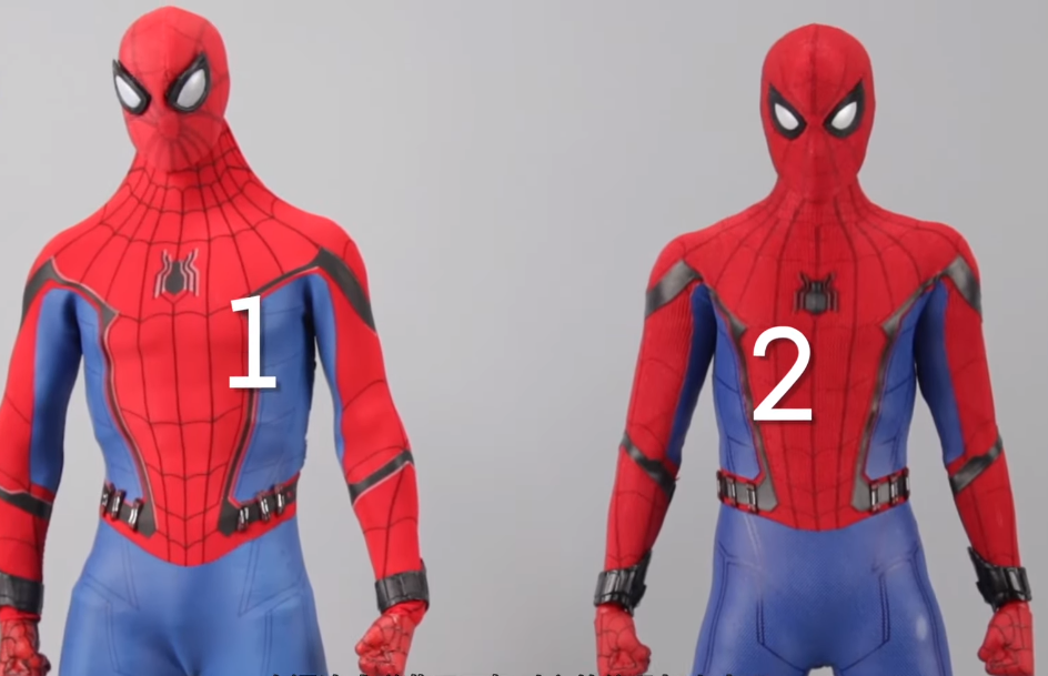 homemade Spider-Man suit from the Spider-Man Far From Home movie